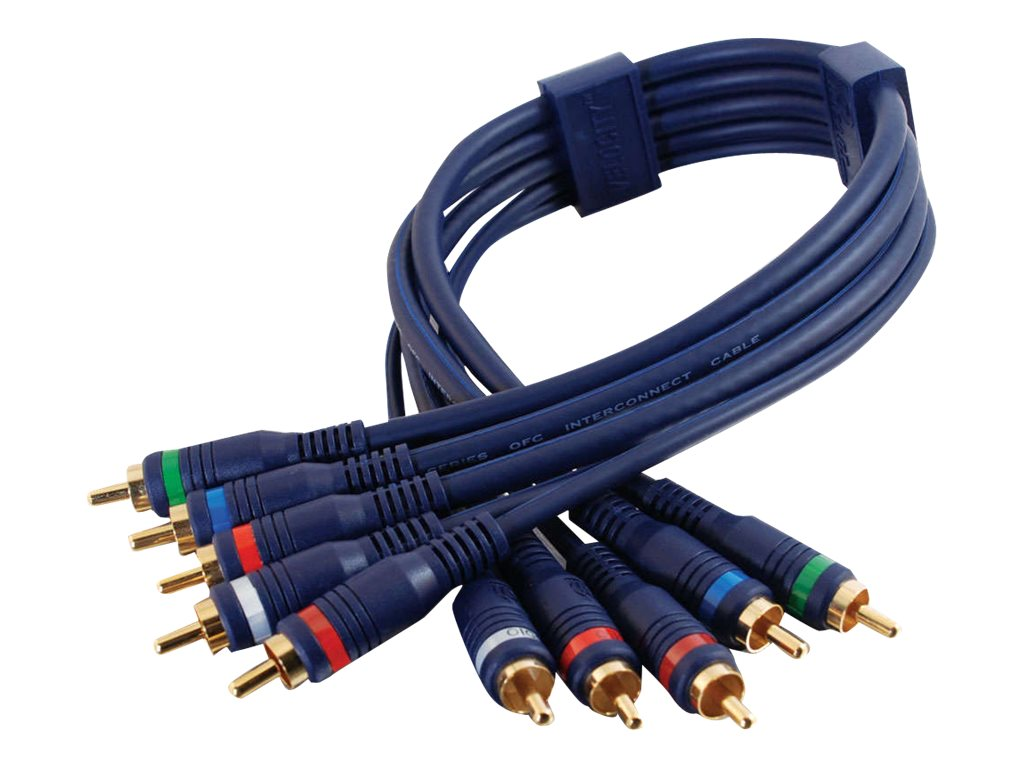C2G Velocity - Video- / Audiokabel - Component Video / Audio - RCA (M) bis RCA (M) - 2 m - STP-Kabel