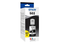 Epson 502 With Sensor - 127 ml - black - original - ink tank - for EcoTank ET-15000; Expression ET-2700, 2750, 3700; WorkForce ET-3750, ST-2000, 3000, 4000