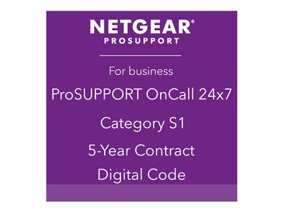 NETGEAR ProSupport OnCall 24x7 Category S1 Technical support phone consulting 5 years