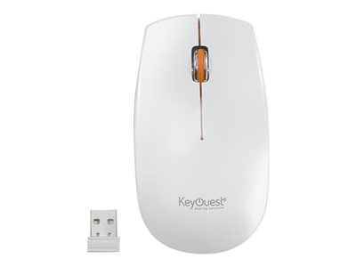 KeyOuest Urban - mouse - 2.4 GHz - white/orange