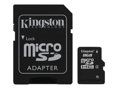 Kingston - tarjeta de memoria flash - 8 GB - microSDHC