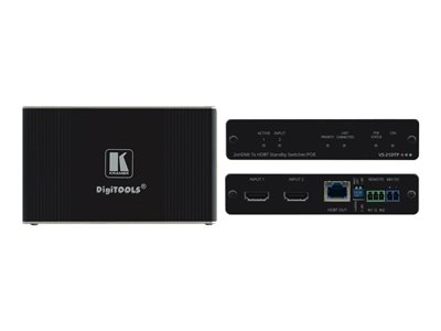 Kramer DigiTOOLS VS-21DTP Video/audio switch 2 x HDMI desktop PoE