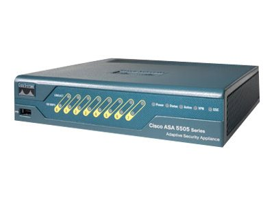 Cisco ASA 5505 Firewall Edition Bundle - Sicherheitsgerät - 8 Anschlüsse - Unlimited-User Security Plus License - 100Mb LAN