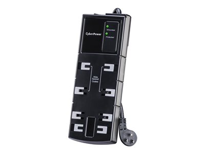 CyberPower Essential Series CSB806 Surge protector AC 125 V output conne