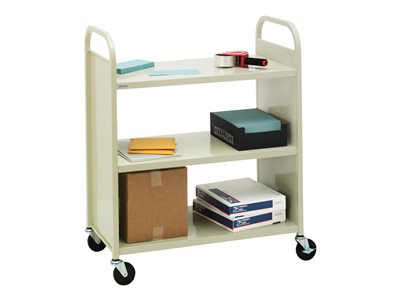 Bretford Trolley 3 shelves 20 gauge steel putty beige