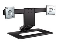 HP Adjustable Dual Display Stand - Stand (stand base) for 2 LCD displays - screen size: up to 24