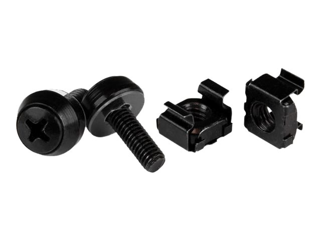 StarTech.com M5 Cage Nuts and Screw - 12 mm Rack Screws and Cage Nuts - 50 Pack - Black - Replacement Serve Rack Screws…