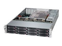 Supermicro SC826 BE16-R1K28LPB - Rack - einbaufähig - 2U - SATA/SAS - Hot-Swap 1280 Watt