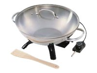 Presto Electric wok 1500 W stainless steel