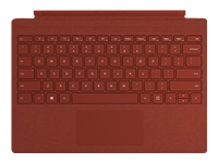 Microsoft Surface Pro Signature Type Cover - Keyboard - with trackpad - backlit - US - poppy red - commercial - for Surface Pro 7