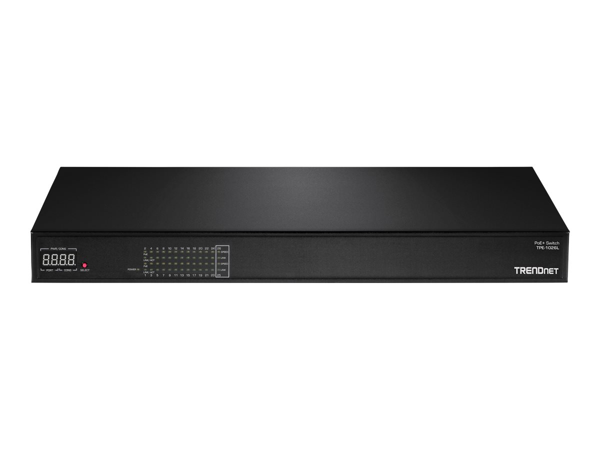 TRENDnet TPE 1026L - switch - 24 ports - rack-mountable