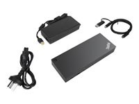 Lenovo ThinkPad Hybrid USB-C with USB-A Dock - Station d'accueil - USB-C - GigE - 135 Watt - pour ThinkPad L480; L580; T480s; X1 Yoga; X280