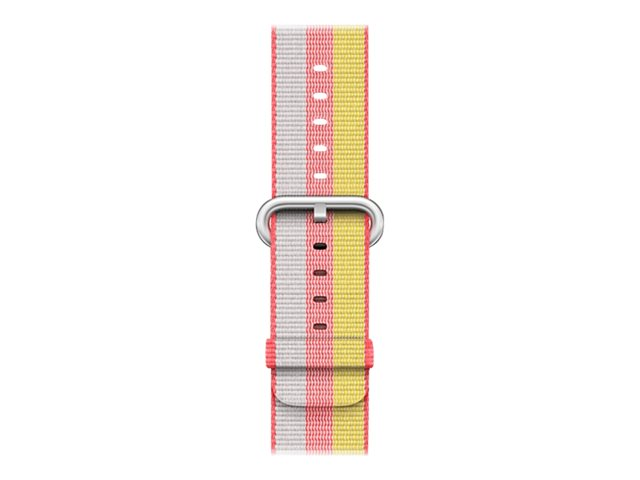 Apple 38mm Woven Nylon Band - Bracelet de montre - 125 - 195 mm - rouge - pour Watch (38 mm)