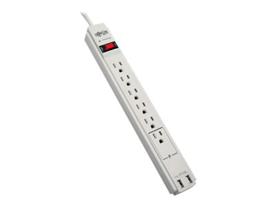 Tripp Lite Surge Protector Power Strip 120V USB 6 Outlet 6' Cord 990 Joule - surge protector