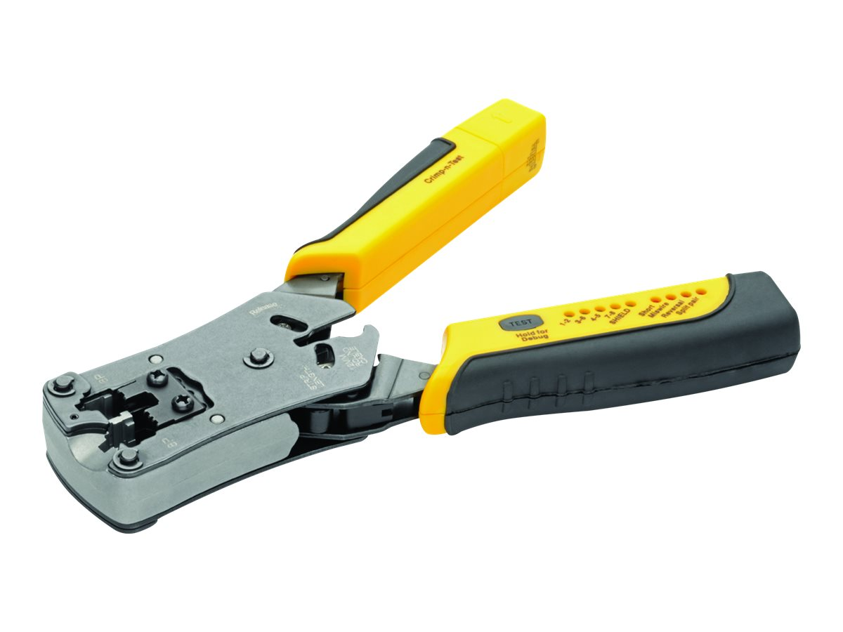 Tripp Lite RJ11/RJ12/RJ45 Wire Crimper with Built-in Cable Tester - crimp tool