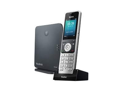 Yealink W60P - cordless VoIP phone - 3-way call capability