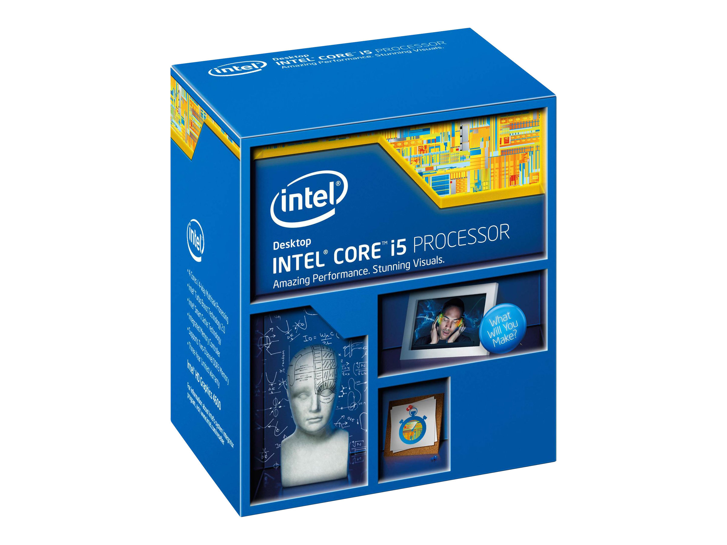 Intel Core i5 4460 - 3.2 GHz - 4 Kerne - 4 Threads - 6 MB Cache-Speicher - LGA1150 Socket