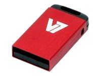 V7 Nano VU24GCR-RED-2E - USB-Flash-Laufwerk - 4 GB - USB 2.0 - Rot