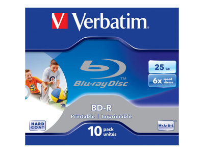 - BD-R x 10 - 25 Go - support de stockage