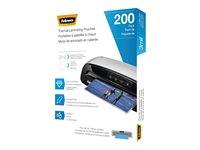 Fellowes 200-pack clear clear Letter A Si