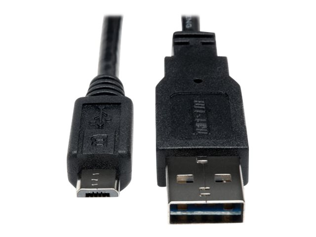 Tripp Lite 10ft USB 2.0 High Speed Cable Reversible A to 5Pin Micro B M/M 10' - USB cable - 3.05 m