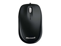 Microsoft Compact Optical Mouse 500 - Mouse - right and left-handed - optical - 3 buttons - wired - USB - black
