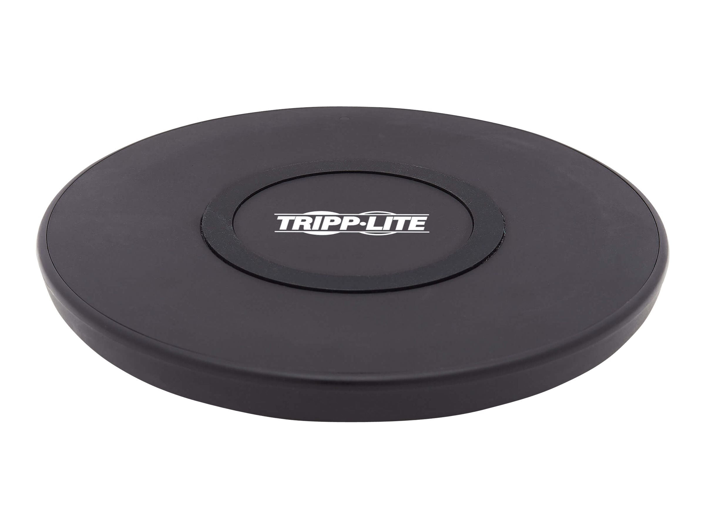 Tripp Lite Wireless Phone Charger - 10W, Qi Certified, Apple and Samsung Compatible, Black wireless charging pad