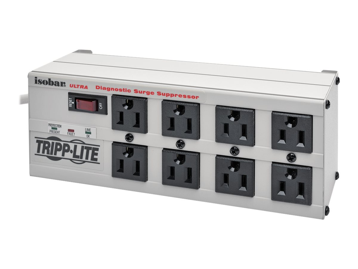 Tripp Lite Isobar Surge Protector Metal 8 Outlet 12' Cord 3840 Joules - surge protector