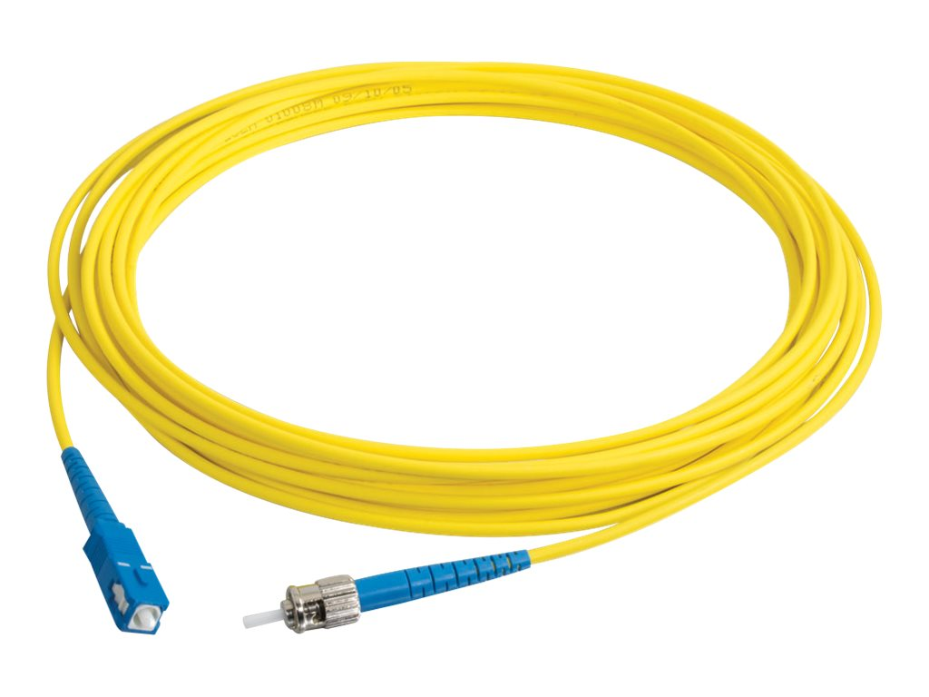 C2G 6m SC-ST 9/125 Simplex Single Mode OS2 Fiber Cable - Plenum CMP-Rated - Yellow - 20ft - patch cable - 6 m - yellow