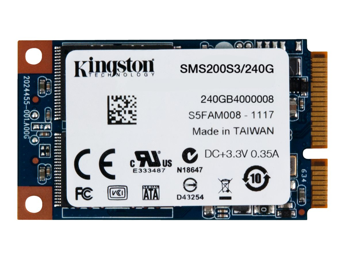 Kingston SSDNow mS200 - Solid-State-Disk - 240 GB - intern - mSATA - SATA 6Gb/s