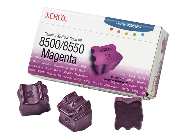 Xerox Phaser 8500/8550 - 3 - magenta - encres solides - pour Phaser 8500DN, 8500N, 8550DP, 8550DT, 8550DX