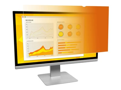 3M Gold Privacy Filter for 20INCH Monitors 16:9 Display privacy filter 20INCH wide gold