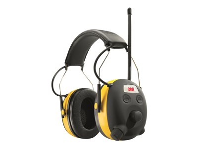 3M WorkTunes Connect Wireless Hearing Protector Headset with radio full size Bluetooth