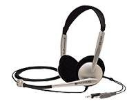 Koss CS100 Headset on-ear wired black, white