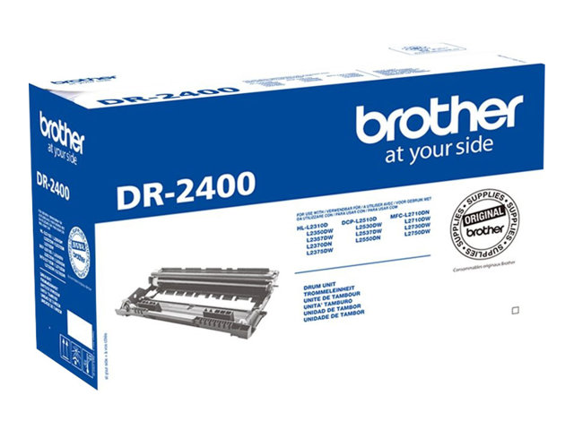 Brother DR2400 - Noir - kit tambour - pour Brother DCP-L2510, L2530, L2550, HL-L2350, L2370, L2375, MFC-L2710, L2713, L2730, L2750