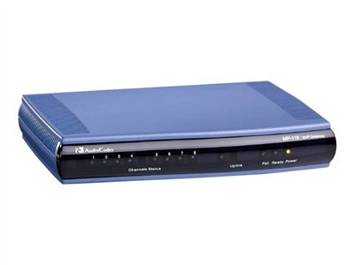 AudioCodes MediaPack Series MP-118 VoIP gateway 8 ports 100Mb LAN