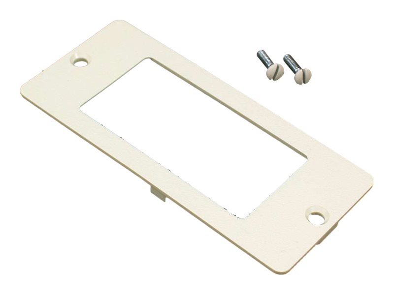 C2G WIREMOLD 5500 RECTANGLE RECEPTACLE FACEPLATE FITTING FOR WIREMOLD 4000 - faceplate