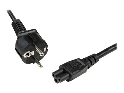 StarTech.com 1m 3 Prong Laptop Power Cord Schuko CEE7 to C5 Clover Leaf - power cable - 1 m