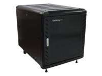 StarTech.com 12U 36in Knock-Down Server Rack Cabinet with Casters - Rack - cabinet - black - 12U - 36""