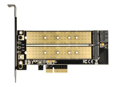 PCI Express x4 Card > 1 x internal M.2 Key B + 1 x internal NVMe M.2 Key M - Low Profile Form Factor