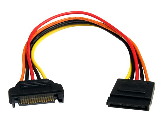 StarTech.com 8in 15 pin SATA Power Extension Cable - 8 SATA power Extension Cable - 8 SATA power Extension cord