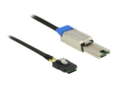 DeLOCK Serial Attached SCSI (SAS) internt til eksternt kabel Sort 1m