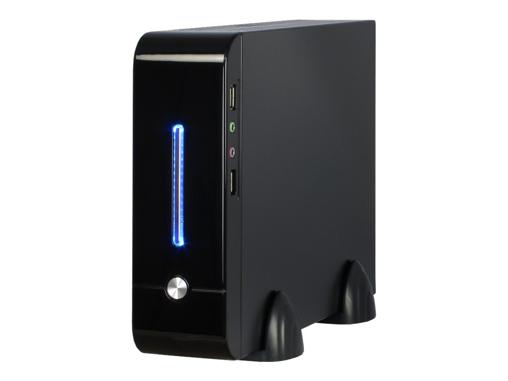 Inter-Tech E-2011 - Ultra Small Form Factor - Mini-ITX - Netzteil 60 Watt - USB/Audio/E-SATA
