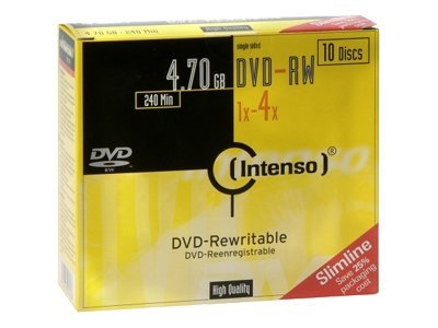 CD & DVD Intenso - DVD-RW x 10 - 4.7 Go - support de stockage