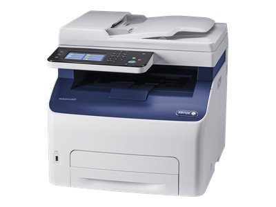Xerox WorkCentre 6027V_NI - Multifunction printer - colour - LED - Legal (216 x 356 mm) (original) - A4/Legal (media) - up to 18 ppm (copying) - up to 18 ppm (printing) - 150 sheets - 33.6 Kbps - USB 2.0, LAN, Wi-Fi(n), USB host