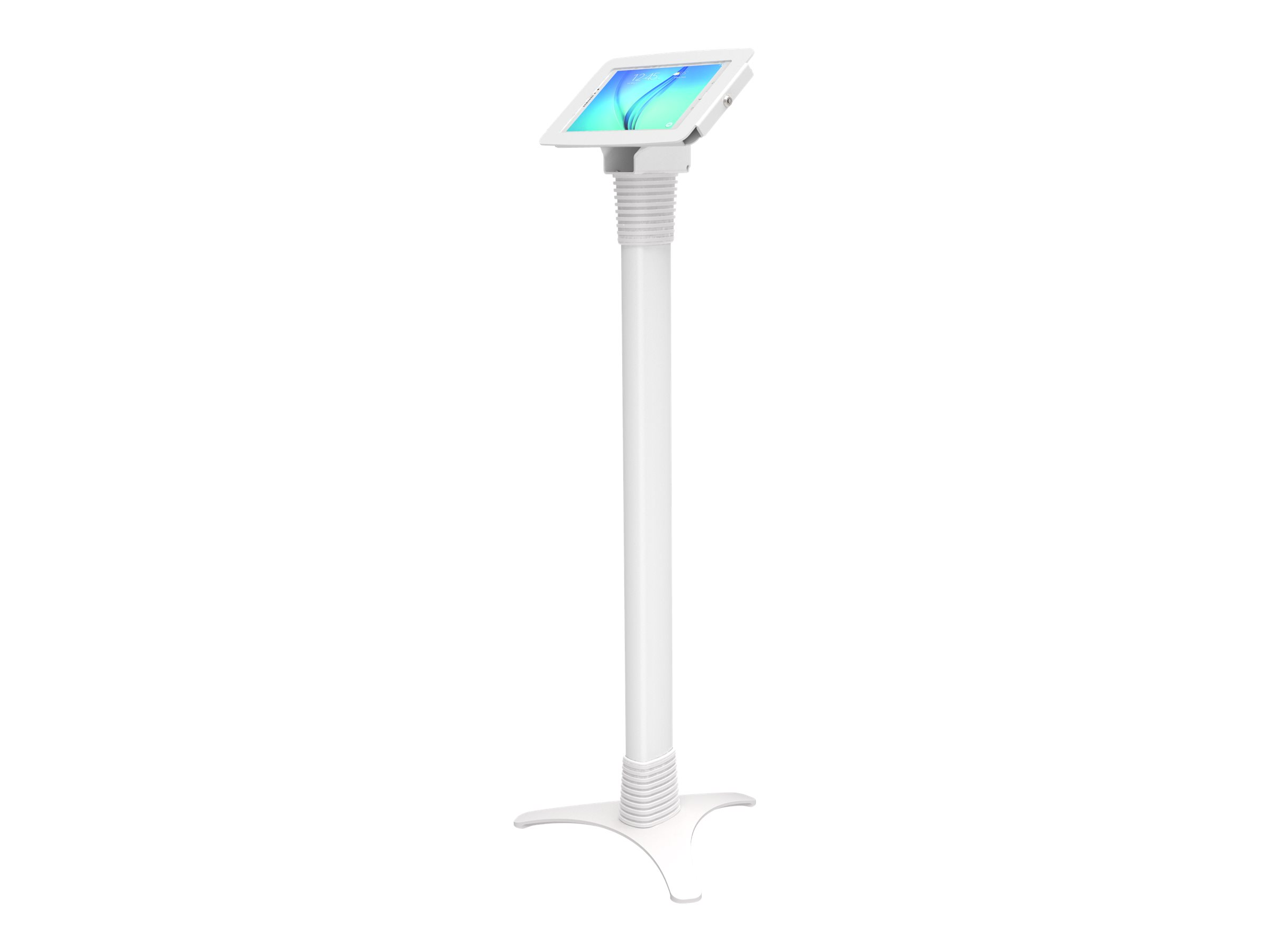 """Compulocks Space Adjustable Galaxy Tab A 10.1"""" Floor Stand White - mounting kit"""