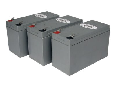 Tripp Lite UPS Replacement Battery Cartridge Kit for select UPS Brands with (3) 12V Batteries - UPS battery
