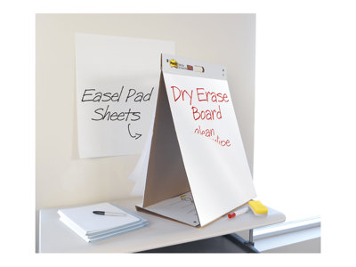 Post-it Tabletop Easel Pad 563 Flip chart pad 20 in x 23 in 20 sheets white plain