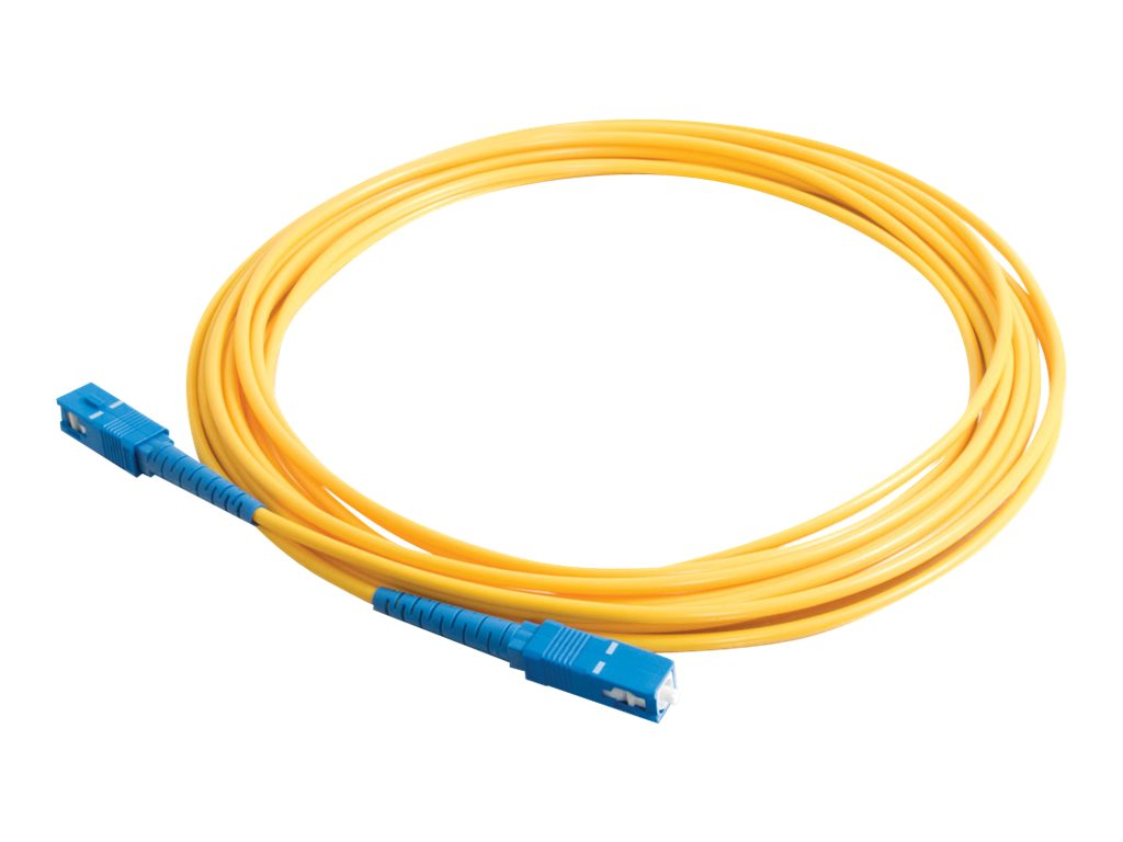 C2G 15m SC-SC 9/125 Simplex Single Mode OS2 Fiber Cable - LSZH - Yellow - 50ft - patch cable - 15 m - yellow