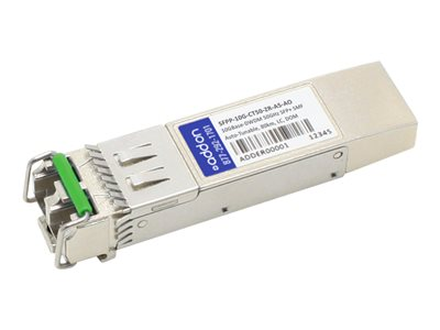 AddOn - SFP+ transceiver module (equivalent to: Juniper Networks SFPP-10G-CT50-ZR-A5) - 10 GigE - 10GBase-DWDM - LC single-mode - up to 80 km - 1530-1565 nm - TAA Compliant